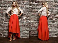 Женская стильная юбка с хвостом, 4 цвета