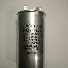 Конденсатор пусковой 35/1.5uF 450V для кондиционера