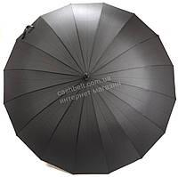 Мужской зонтик трость с огромным куполом черного цвета RAINBOW art. 151 16 спиц (100695) , фото 1