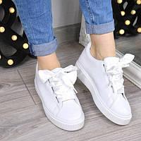 9ae66abc765a Кроссовки криперы под Puma Rihanna Suede белые 3459, спортивная обувь