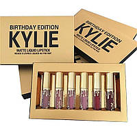 Набор жидких матовых помад Kylie Birthday Edition, 6 штук, Хит продаж
