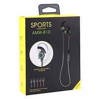 Наушники гарнитура Sports AMW-810 Bluetooth