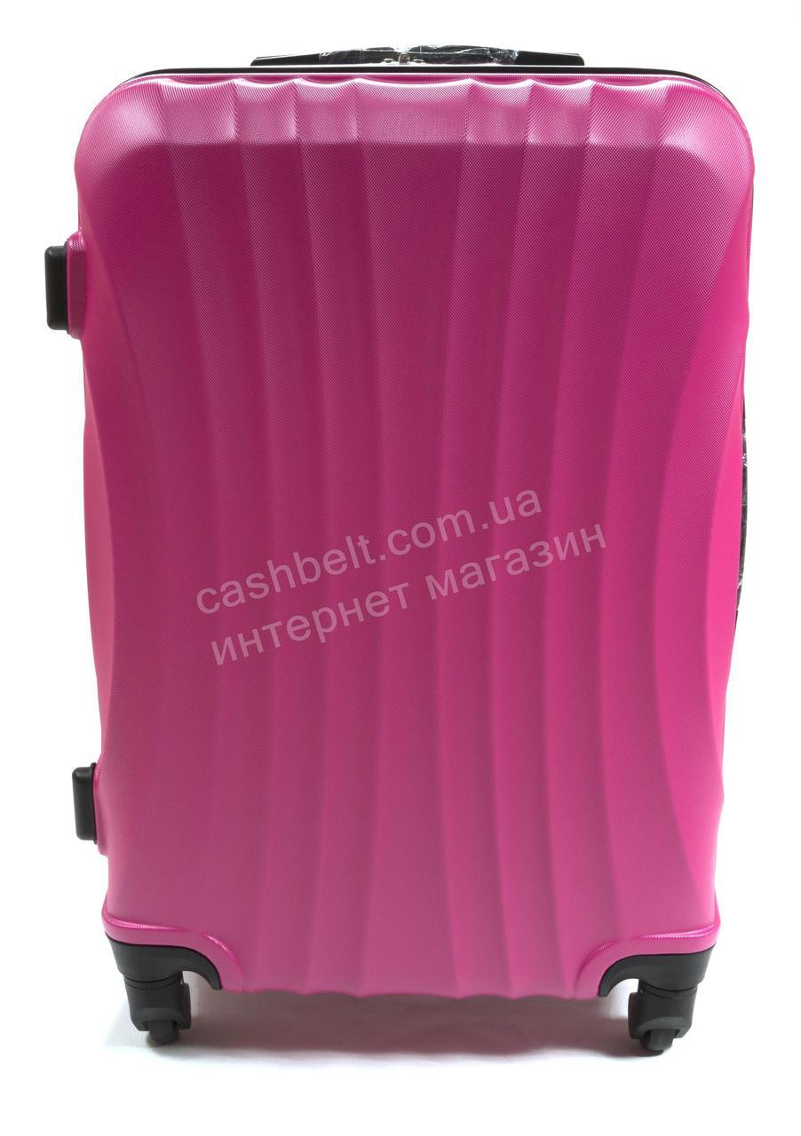Объемный дорожный каркасный чемодан с прочного пластика WINGS  art. 0715 №2 розовый (100692)