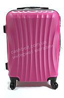 Объемный дорожный каркасный чемодан с прочного пластика WINGS  art. 0715 №3 розовый (100693), фото 1
