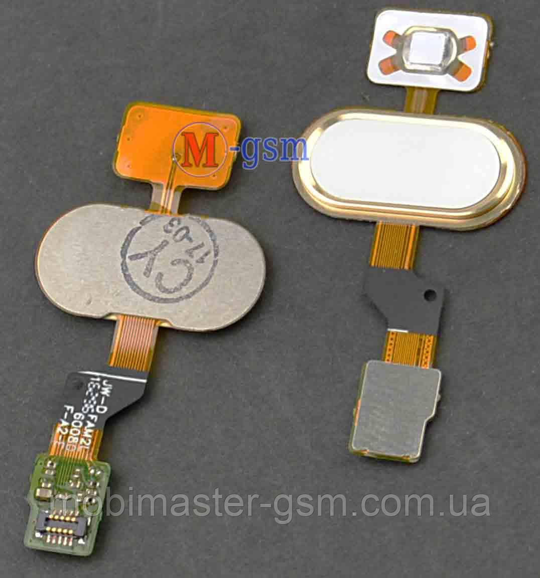 Шлейф с кнопкой включения для Meizu M3s white-gold