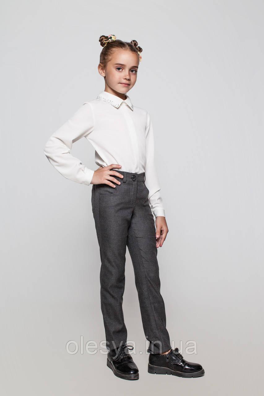 Школьные брюки с шерстью на девочку ТМ Cvetkov. Размеры  140 Цвет черный