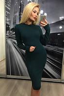 Платье из ангоры, зеленое