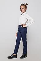Школьные брюки с шерстью на девочку ТМ Cvetkov. Размеры 122 - 140 Цвет синий