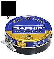 Паста для обуви Saphir Pate De Luxe, цв. черный, 50 мл