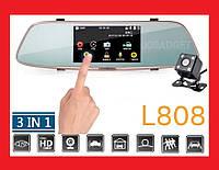 """DVR L808 Full HD 5"""" сенсорный экран. Зеркало заднего вида с видео регистратором, фото 1"""