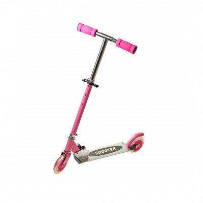 Самокат Scooter розовый двухколесный