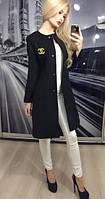 Пальто кашемир черный