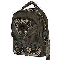Рюкзаки с плотной брезентовой ткани фабричный пошив  4007-3