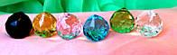Кристаллы подвесные, диаметр 5 см.