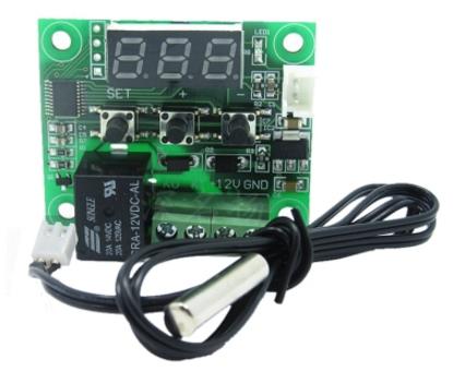Терморегулятор цифровой W1209 бескорпусной 12В (-50...+110) 0.1 градус
