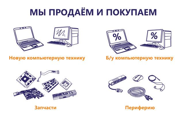 Купить продать новую компьютерную технику, Б/У компьютерную технику, запчасти для ноутбуков, периферию