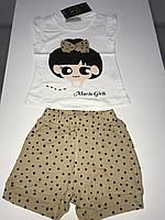 """Костюм, набор для девочки шорты и футболка """"Марио"""""""