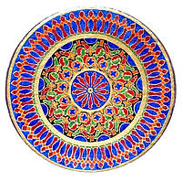 """Декоративная тарелка диаметром 42 см """"Сердце Солнца""""  шамотной трипольской глины станет изысканным"""