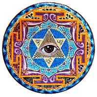 """Декоративная тарелка диаметром 42 см """"The Great Seal""""  шамотной трипольской глины станет изысканным"""