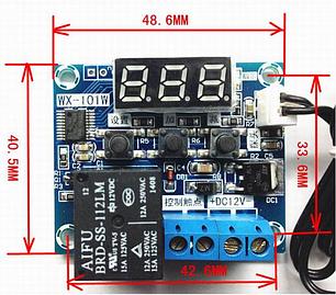 Терморегулятор цифровой WX-101 бескорпусной DC12V/DC5V (-40...+120) 0.1 градус, фото 2