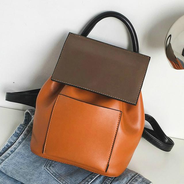 Коричневый женский рюкзак