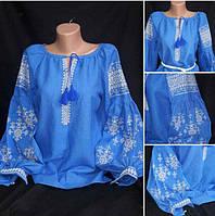 """Стильная женская блузка с вышивкой """"Власта"""", натуральный лен"""