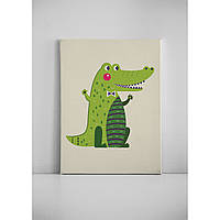 Детская картина на холсте Крокодил 30х40 см