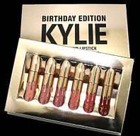 Набор стойких матовых жидких помад 6 штук Kylie Birthday Edition (Кайли Бездей Эдишн)