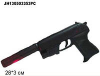 Пистолет с пульками, глушитель, лазер, утяжеленный пакет 28*3см