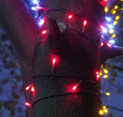 Светодиодные гирлянды ЛУЧИ на деревья