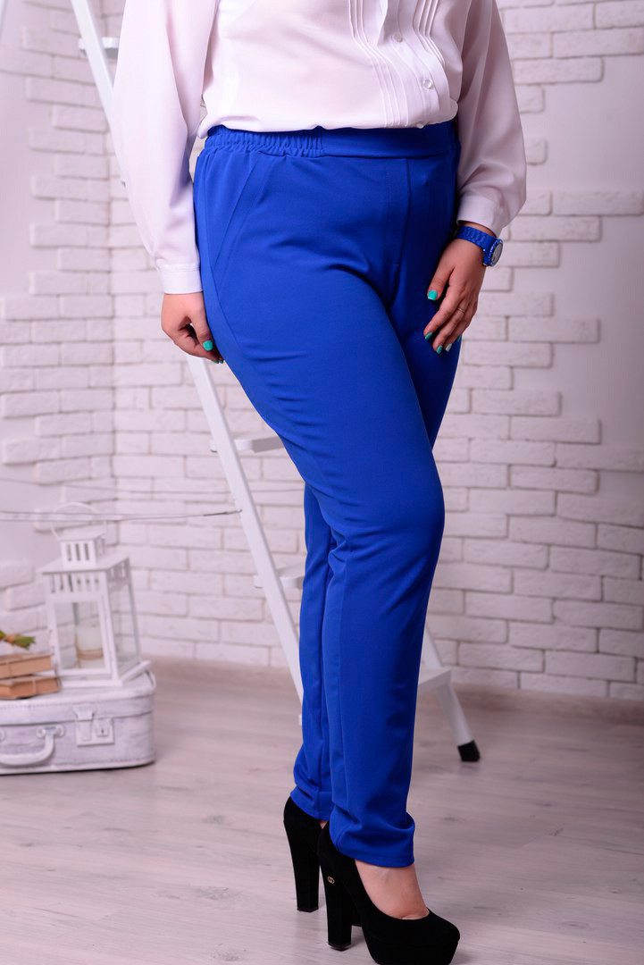 b94119f07e3 Женские брюки больших размеров Милан синие (48-74) - 700 грн. Купить ...