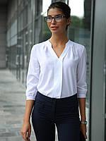 (S, M, L) Жіноча біла класична блузка Kary