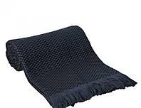 Fresno Pique Blanket (Hasir) от Casual Avenue плед-покрывало из эвкалипта  240х250  deep blue