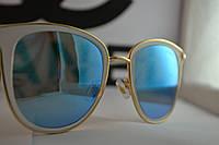 Стильные солнцезащитные очки , цвет голубой