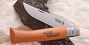 Складной нож с деревянной ручкой (упакован в блистер) Opinel Carbon Steel No.10 (000403), фото 3