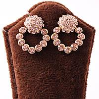 Серьги с карамельными камнями