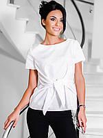 Жіноча біла блузка на зав'язці Limo S