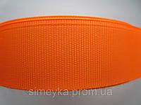 Лента репсовая 1 см. Оранжевая
