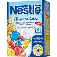 Nestle Каша «Йогуртна 3 злаки з бананом та полуницею», від 8 місяців, 200г