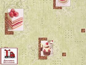 Обои, обои на стену, бумажные влагостойкие, торт, бисквит, капкейк, B56,4 Бисквит 8036-04Х, 0,53*10м, фото 3