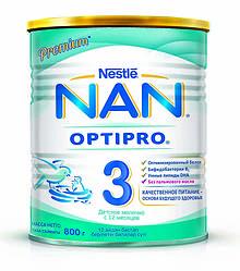 Акція -3% Смесь молочная NAN 3 от 12 месяцев 800 г