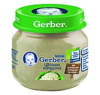 GERBER Пюре овочеве Цвітна Капуста, з 4 місяців, 80г