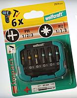 Набор бит (6 бит) Wolfcraft 29740000
