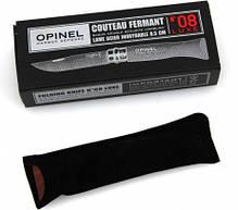 Складной нож с деревянной ручкой с чехлом и коробкой Opinel Inox Lux Bubinga box No.08 226086 , фото 3