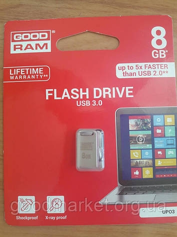 Флешка GOODRAM 8 GB Point Silver (UPO3-0080S0R11), фото 2