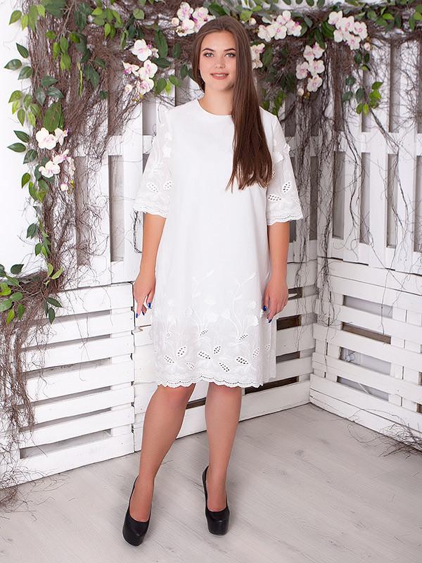 """Летнее платье женское """"Валенти"""" большого размера (до 70 и более)"""