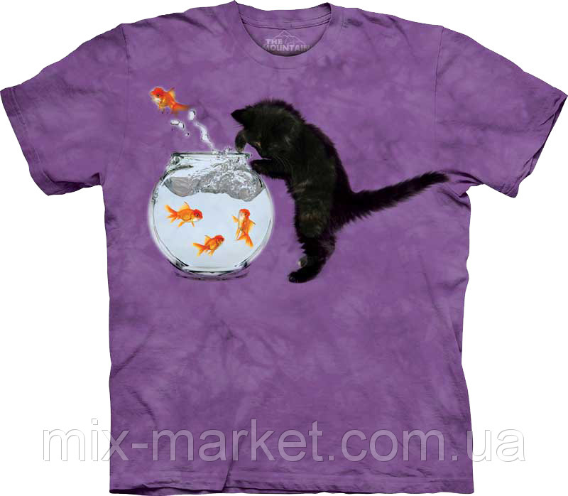 "Футболка The Mountain - Fishin Kitten- 2013 - Интернет-магазин ""Mix-Market"" в Запорожской области"
