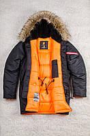 Мужская зимняя парка Olymp - Аляска N-3B, Slim Fit, Color: Black, мужская аляска