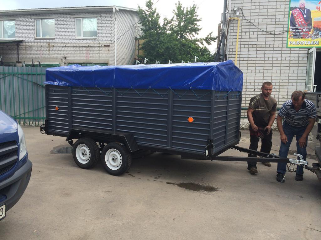 Прицеп под заказ для перевозки животных 3,6м на 1,6м, высота борта 1м -1
