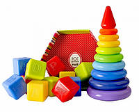 Пирамидки, кубики